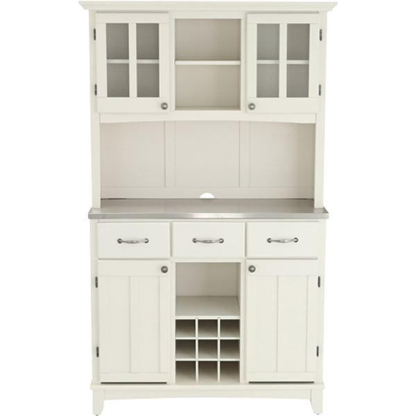 Homestyles White Buffet With Hutch 5100 0023 22 The Home Depot